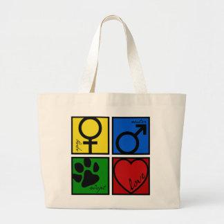 Spay-Neuter-Adopt-Love Large Tote Bag