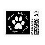 Spay Neuter Adopt Love Postage Stamps