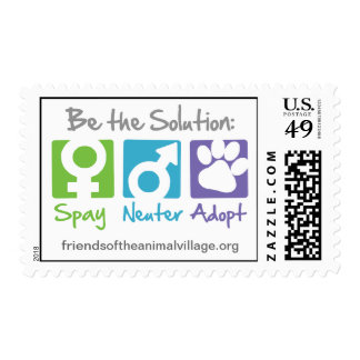"""""""Spay, Neuter, Adopt"""" Postage Stamps"""