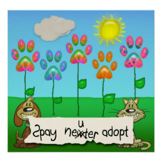 spay neuter adopt posters