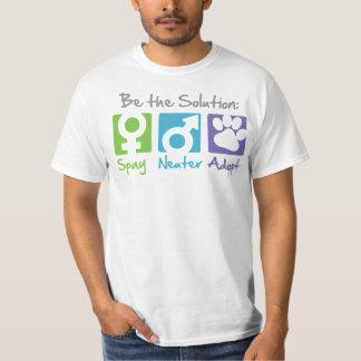 """""""Spay, Neuter, Adopt"""" T-shirt"""