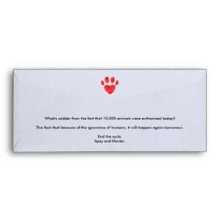 Spay & Neuter Pawprint Envelope