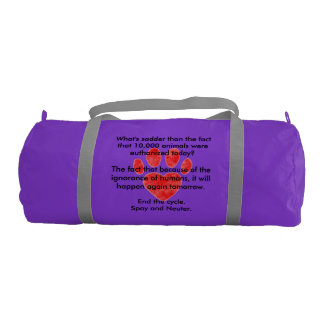 Spay & Neuter Pawprint Gym Bag