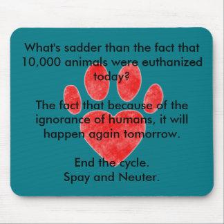 Spay & Neuter Pawprint Mouse Pad
