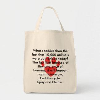 Spay & Neuter Pawprint Tote Bag