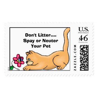 Spay Neuter  Postage Stamp