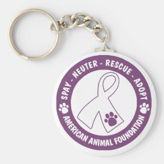 Spay, Neuter, Rescue, Adopt Basic Round Button Keychain