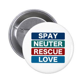 Spay Neuter Rescue Love (2) 2 Inch Round Button