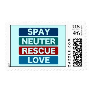 Spay Neuter Rescue Love (2) Postage Stamp