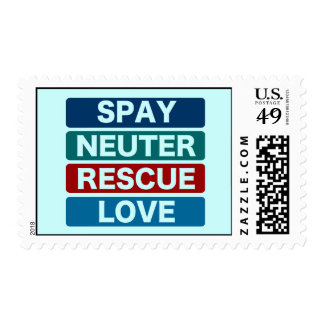 Spay Neuter Rescue Love (2) Postage Stamp