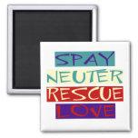 Spay Neuter Rescue Love Fridge Magnets