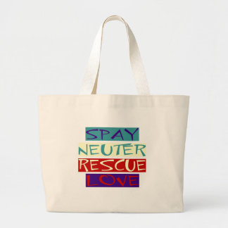 Spay Neuter Rescue Love Large Tote Bag