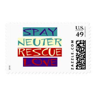 Spay Neuter Rescue Love Postage Stamp