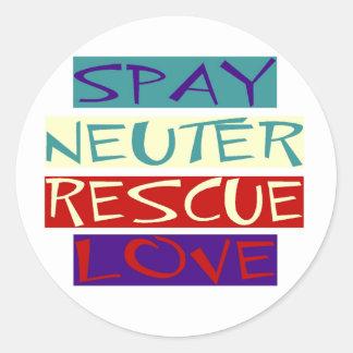 Spay Neuter Rescue Love Round Stickers