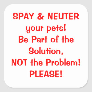 Spay Neuter sticker