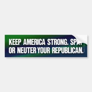 Spay o neutralice a su republicano pegatina para auto