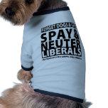Spay y neutralice a los liberales camisetas de perrito