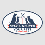 Spay y neutralice a sus mascotas calcomania ovalada