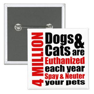 Spay y neutralice a sus mascotas pins