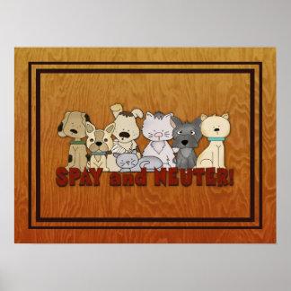 Spay y neutralice a sus mascotas posters