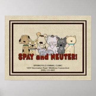 Spay y neutralice a sus mascotas que hacen publici poster