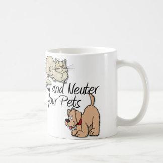 Spay y neutralice a sus mascotas taza