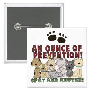 Spay y neutralice su botón de los mascotas pins