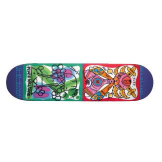 Spazecraft One Hello1 Purple Skate Deck