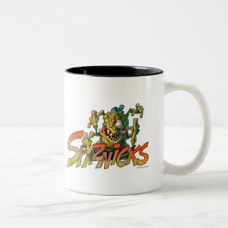 Spaznicks Logo Two-Tone Coffee Mug