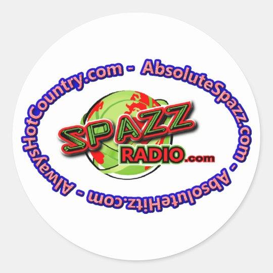 SpazzRadio Logo Merch Classic Round Sticker