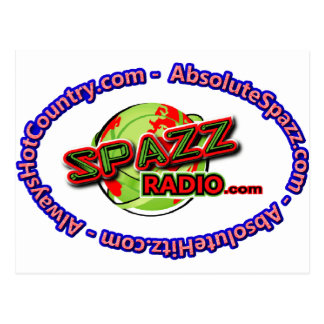 SpazzRadio Logo Merch Postcard