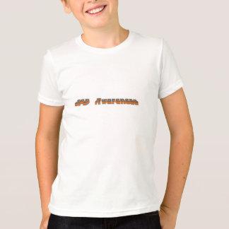 SPD Awareness Kids Shirt Orange/Blue Font 3D