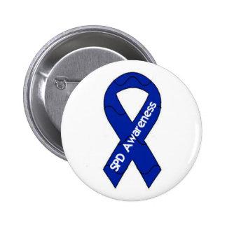 SPD Awareness Pin Back Button