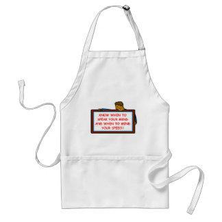 speak adult apron