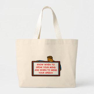 speak canvas bags