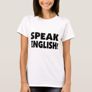Speak English (b/w) Baby Doll T-Shirt