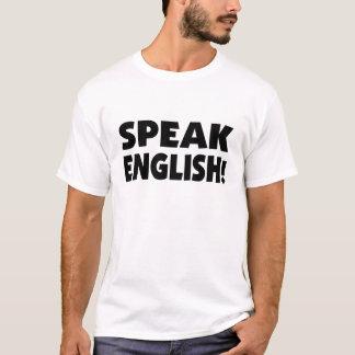 Speak English (b/w) Basic T-Shirt