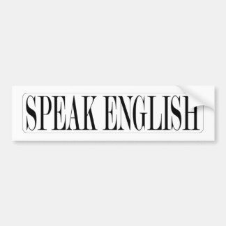 SPEAK-ENGLISH BUMPER STICKER