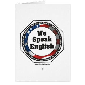 Speak English Card