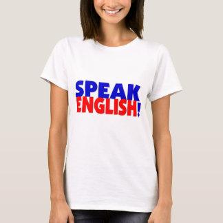 Speak English (color) Ladies Baby Doll TShirt