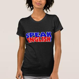 Speak English (color) Ladies Dark TShirt