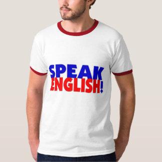 Speak English (color) Ringer TShirt
