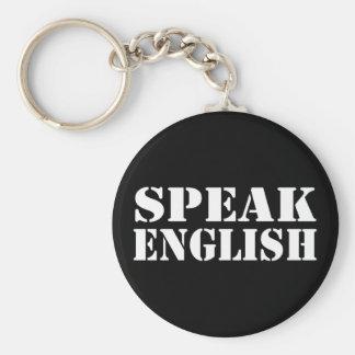 Speak English Keychain