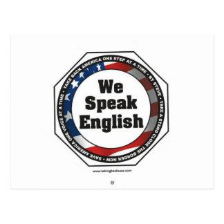 Speak English Postcard