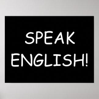 Speak English! Poster