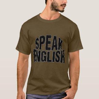 Speak English (stylized) Basic Dark T-Shirt