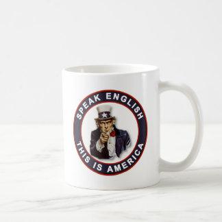 SPEAK ENGLISH - THIS IS AMERICA CLASSIC WHITE COFFEE MUG
