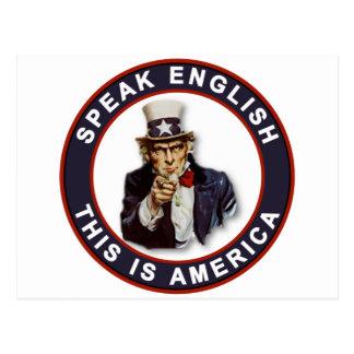 SPEAK ENGLISH - THIS IS AMERICA POSTCARD