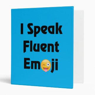 Speak Fluent Emoji 3 Ring Binder