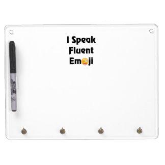 Speak Fluent Emoji Dry Erase Board With Keychain Holder